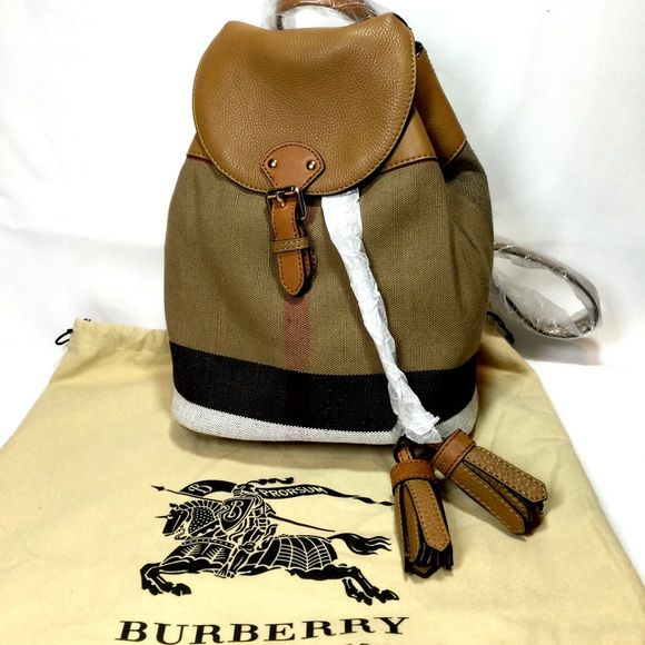 0b4eb70ca NWT Burberry Mini Check Canvas/leather Backpack New With Tag! Bought from  Neiman Marcus