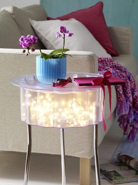 Stimmungsvolle Dekoideen mit Lichterketten Ideenwirrwarr - deko ideen selbermachen wohnzimmer
