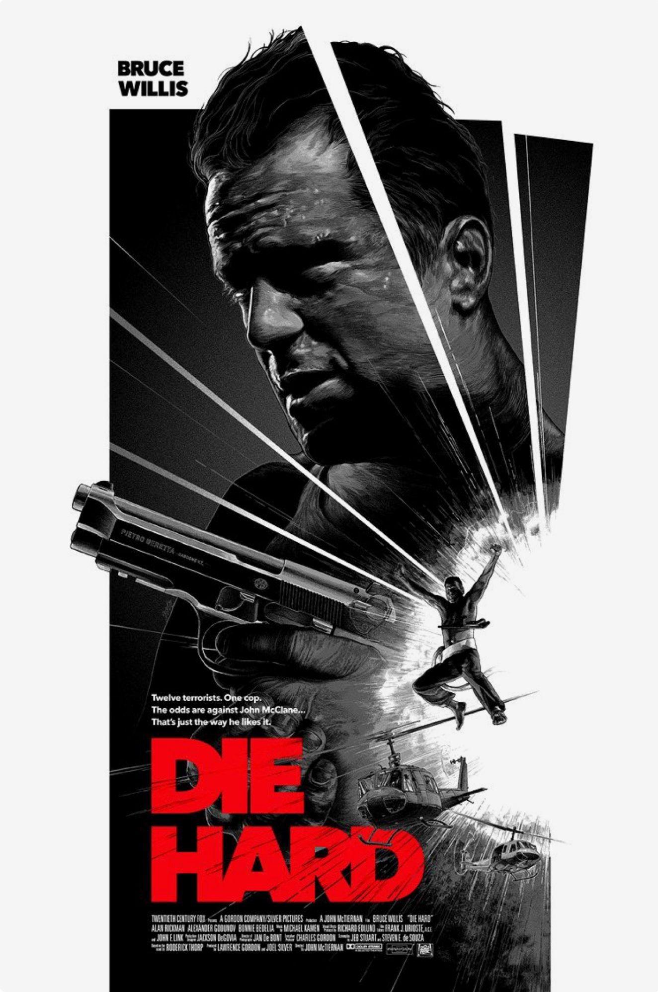 Die Hard John Mctiernan 1988 8 2 Movie Poster Art Movie