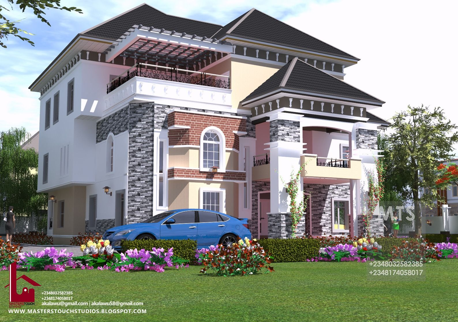 6 Bedroom Executive Duplex With Pent House Rf Ed6001 In 2020 Pent House 4 Bedroom House Designs Duplex House Design
