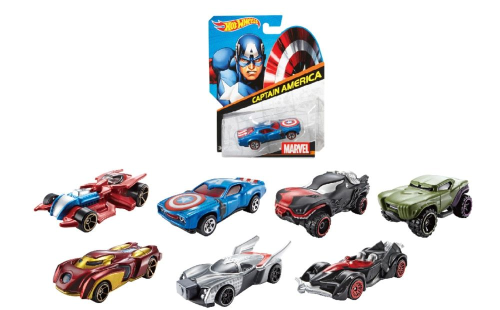 1 64 Hot Wheels Cartoon Character Car Toys Spider Man And Captain