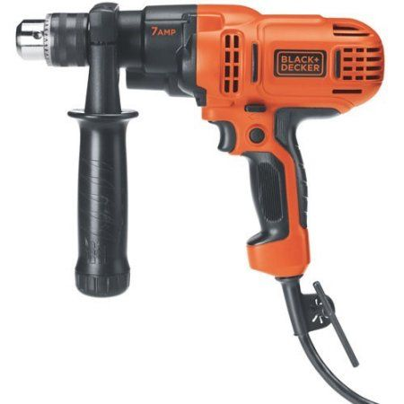 Black And Decker 1 2 Inch 7 Amp Variable Speed Drill Dr560 Multicolor Products Corded Drill Cordless Drill Reviews Drill Driver