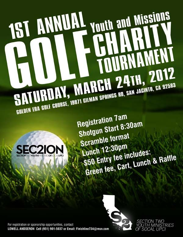 Youth Missions Golf Tournament flyer Golf Tournament Pinterest - benefit flyer templates