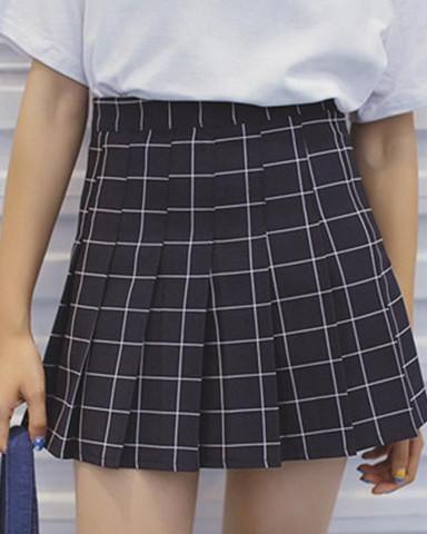 Grid Tennis Skirt - INU INU  97f5167d1d