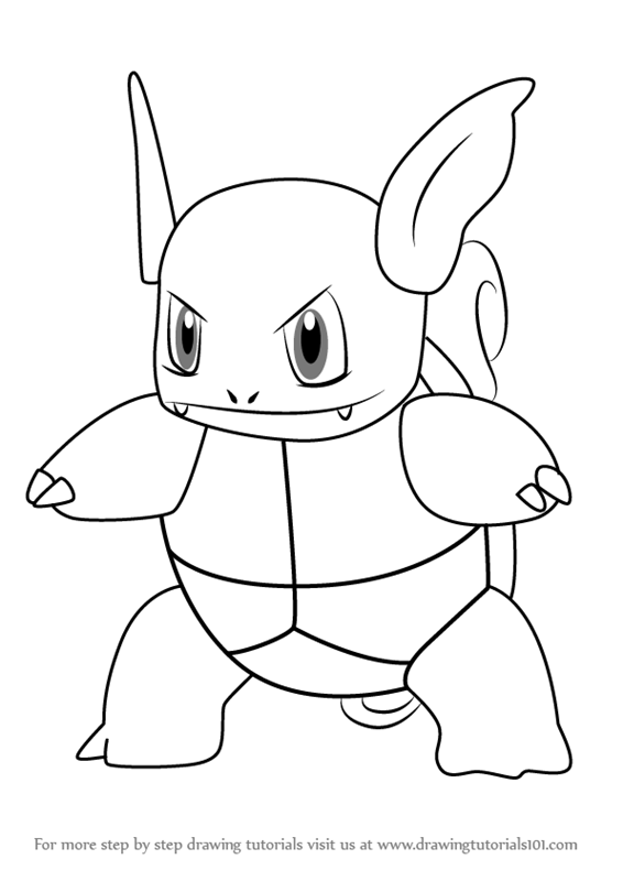 Learn How To Draw Wartortle From Pokemon Go Pokemon Go Step By Step Drawing Tutorials Pokemon Coloring Sheets Pokemon Coloring Pokemon Sketch