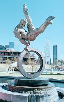 "Statues and Monuments - GeorgiaInfo ""The Flair"" Statue for the 1996 Olympics."