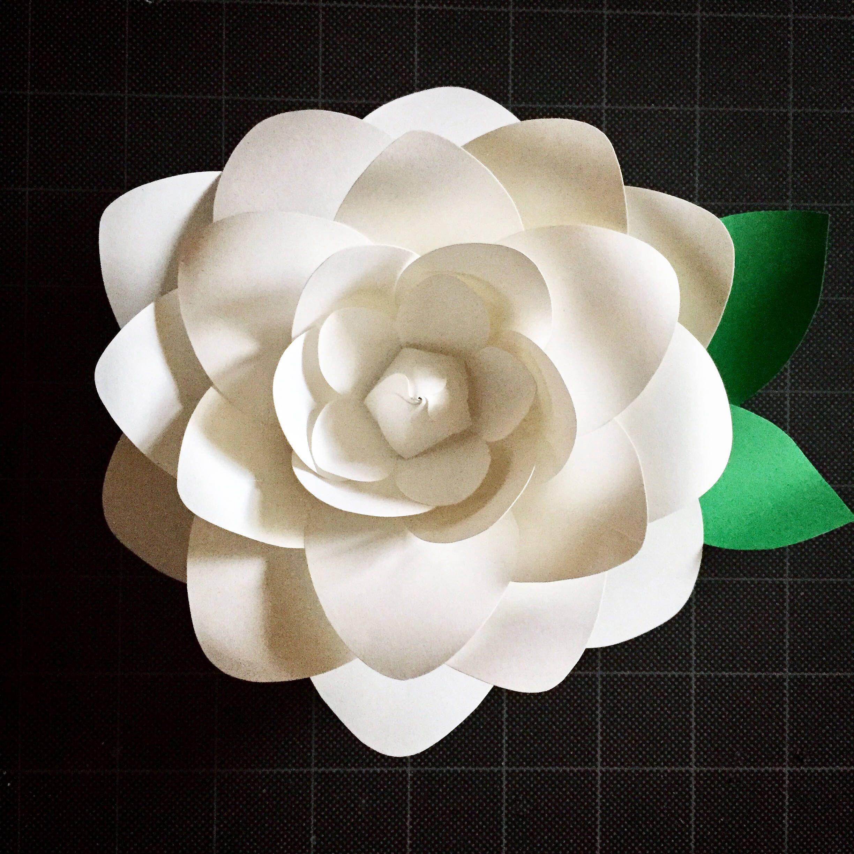 Paper Flower Gardenia Template Digital Download Pdf And Svg