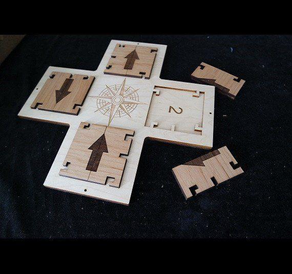 Compass style directional combo lock escape room puzzle for Escape puzzle