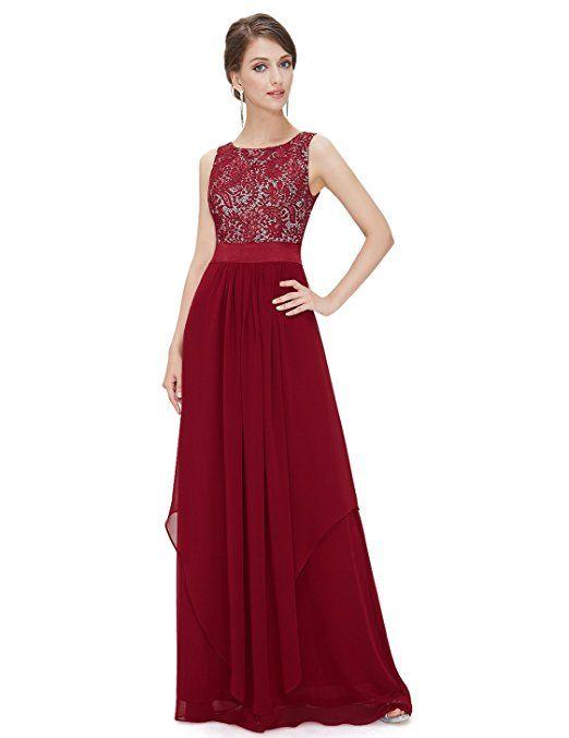 Ever Pretty Damen Elegant Armlos Runder Kragen Abendkleider 08217 ...