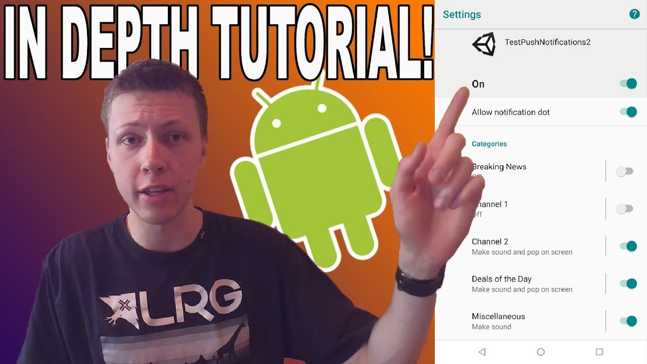 Erstellen von Benachrichtigungskategorien in Unity - Lernprogramm für Android-Entwicklung [ad_1] In diesem Tutorial-Video zeig...