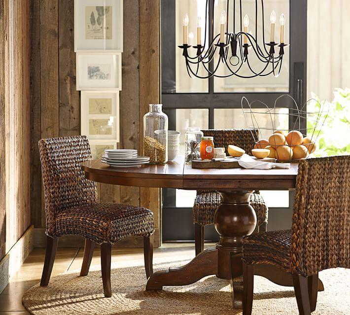 Attirant Seagrass Chair Pottery Barn  For Banquette