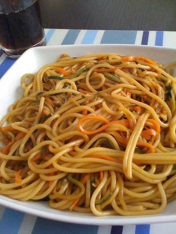 Espagueti Con Espagueti De Verduras Receta De Cocina Receta Espagueti Con Verduras Espaguetis Recetas De Cocina