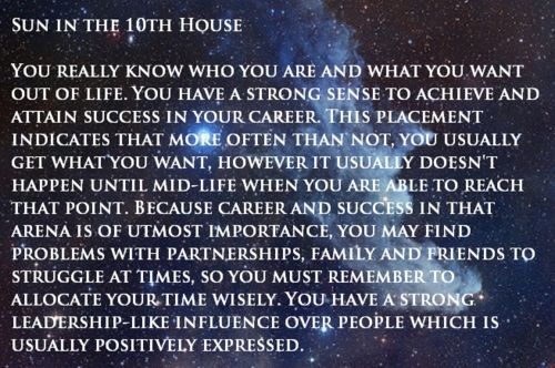 SUN in 10th house | zodiac | Sidereal astrology, Astrology houses