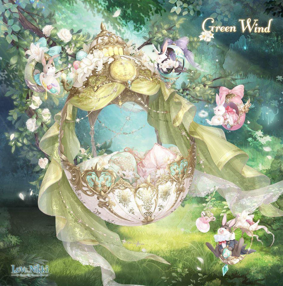 Green Wind Love Nikki Dress Up Queen Wiki Fandom Anime Background Beautiful Artwork Fairies Dancing