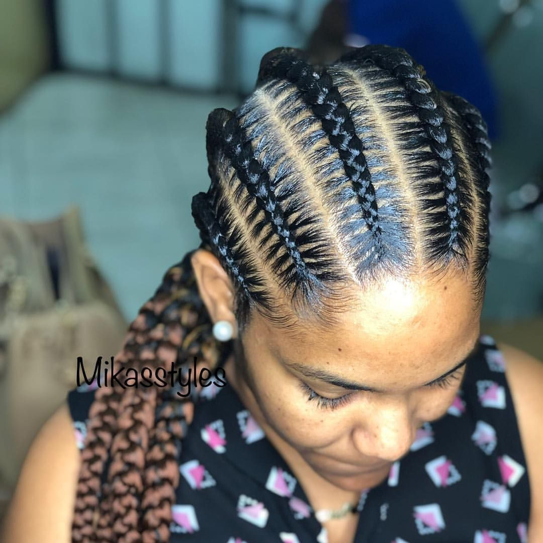 Regular All Back Boxbraids Braids Stitchbraids Cornrows Boxplaits Black Instabraids 6cornrows With Images Hair Cure Hair Styles 2017 Natural Hair Styles