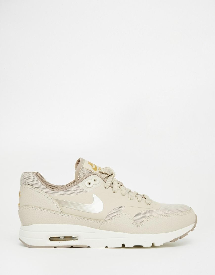 nike air max essentials beige sneakers