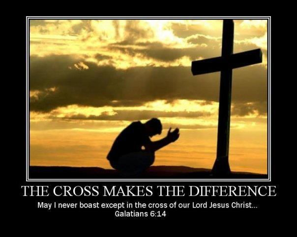 Bible Alive: Gal. 6:14 But God forbid that I should glory, save in the cross of our Lord Jesus Christ, by whom