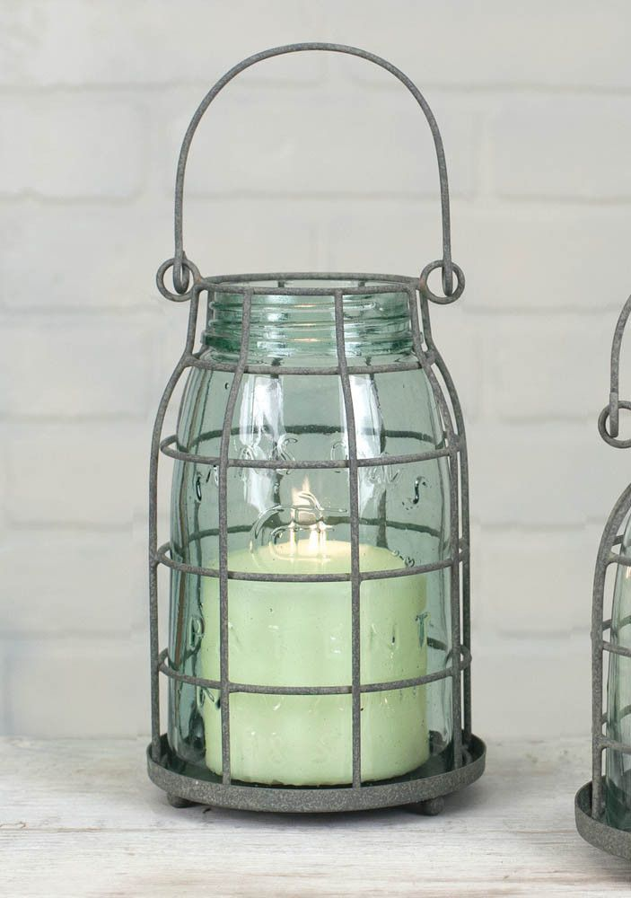 Quart Mason Jar Candle Cage