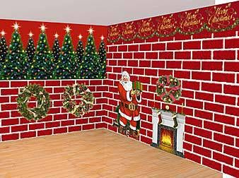 Set a Christmas scene with our plastic Cozy Christmas Room Setters ...