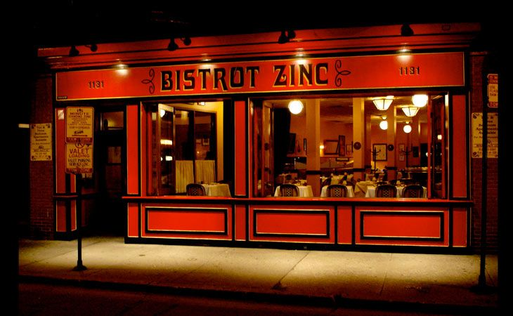 Restaurant In Chicago Owned By Family Friend Casey Eslick The Daily Dish Bistrot Zinc Chicago Restaurants Glass Signage Great Restaurants
