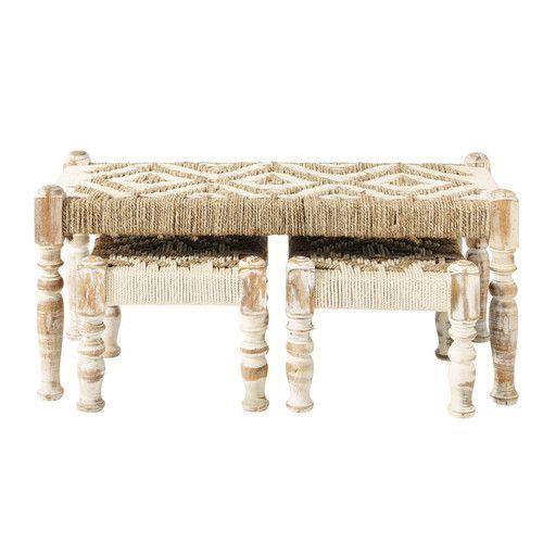 banc et tabourets fa on charpa maison du monde shop. Black Bedroom Furniture Sets. Home Design Ideas