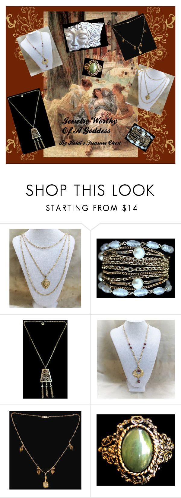 """""""Jewelry Worthy Of A Goddess"""" by heidi-calamia-galati ❤ liked on Polyvore featuring vintage"""