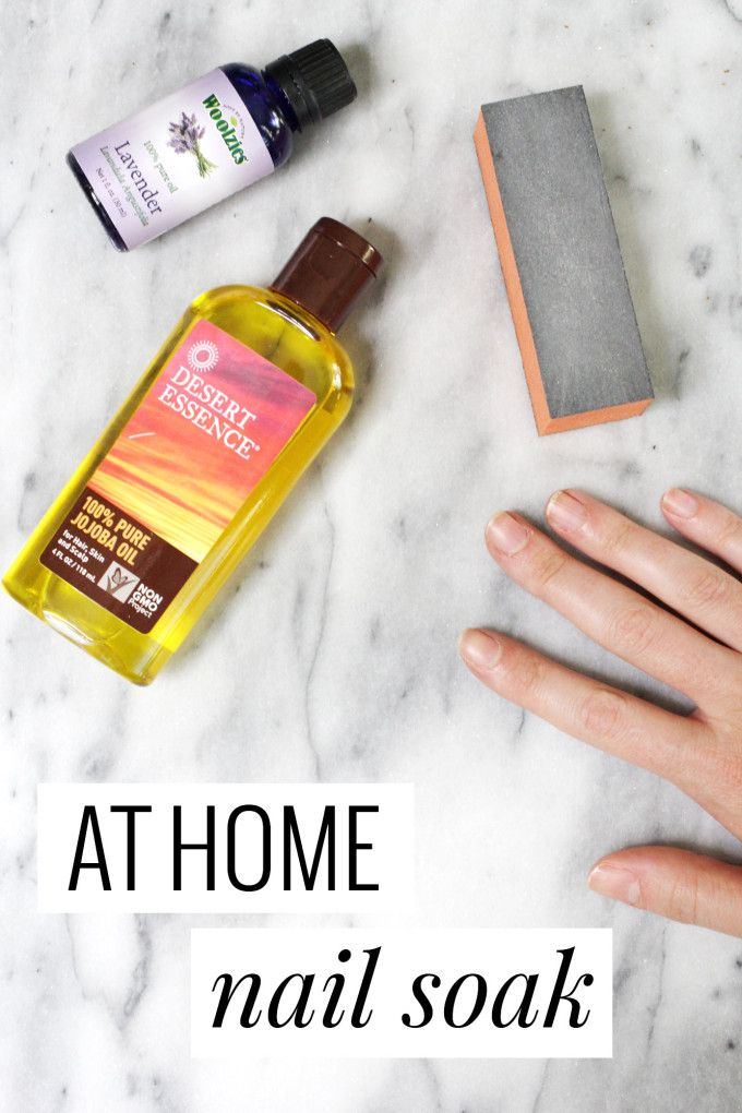 At Home Nail Soak | Dry cuticles, Nail soak and Jojoba oil