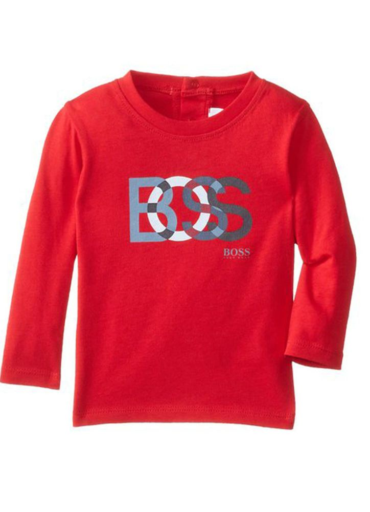 c29a61416 FREE WORLDWIDE SHIPPING. .FAST DELIVERY. HUGO BOSS HUGO BOSS Baby Boys Top T -Shirt Long Sleeve Kids Toddler J05325 .