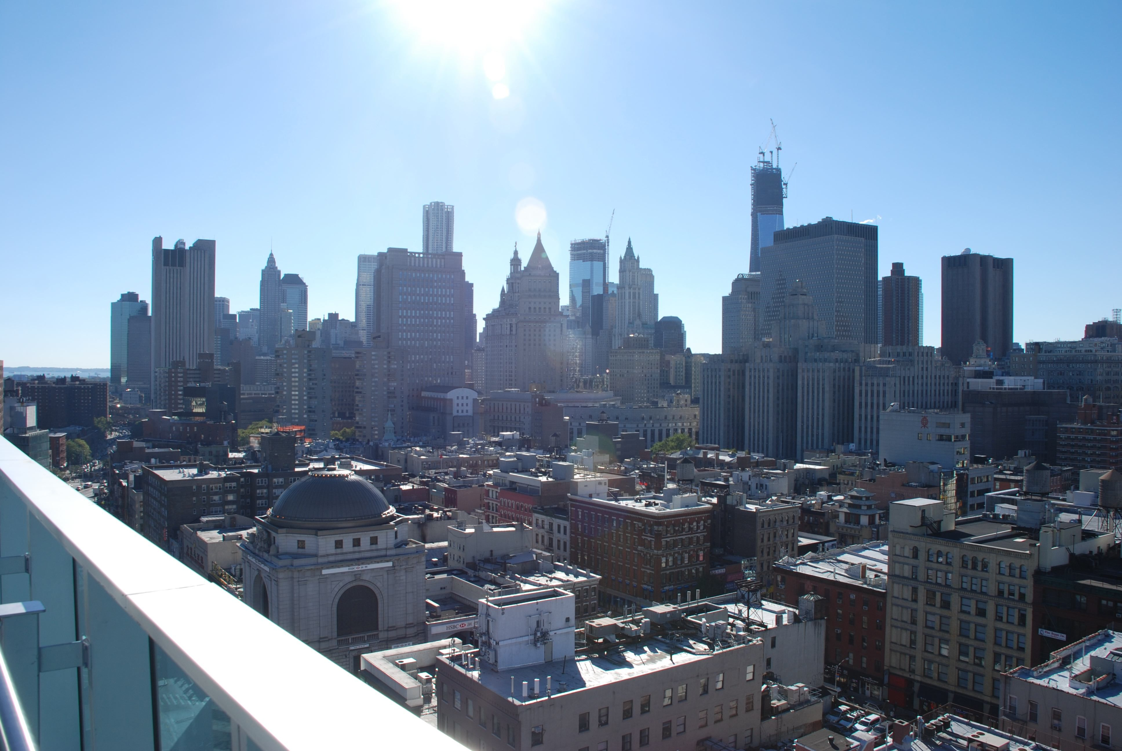 View Of The Lower East Side From Wyndham Garden Rooftop Lower East Side Rooftop Wyndham