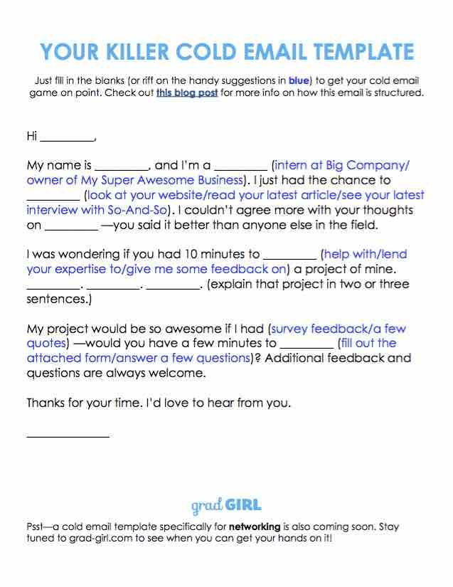 The cold email is one of the best ways to talk to strangers Learn - email for resume