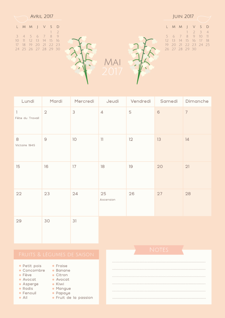 calendrier mai 2018 imprimer diy printables des blogueuses pinterest calendar filofax. Black Bedroom Furniture Sets. Home Design Ideas