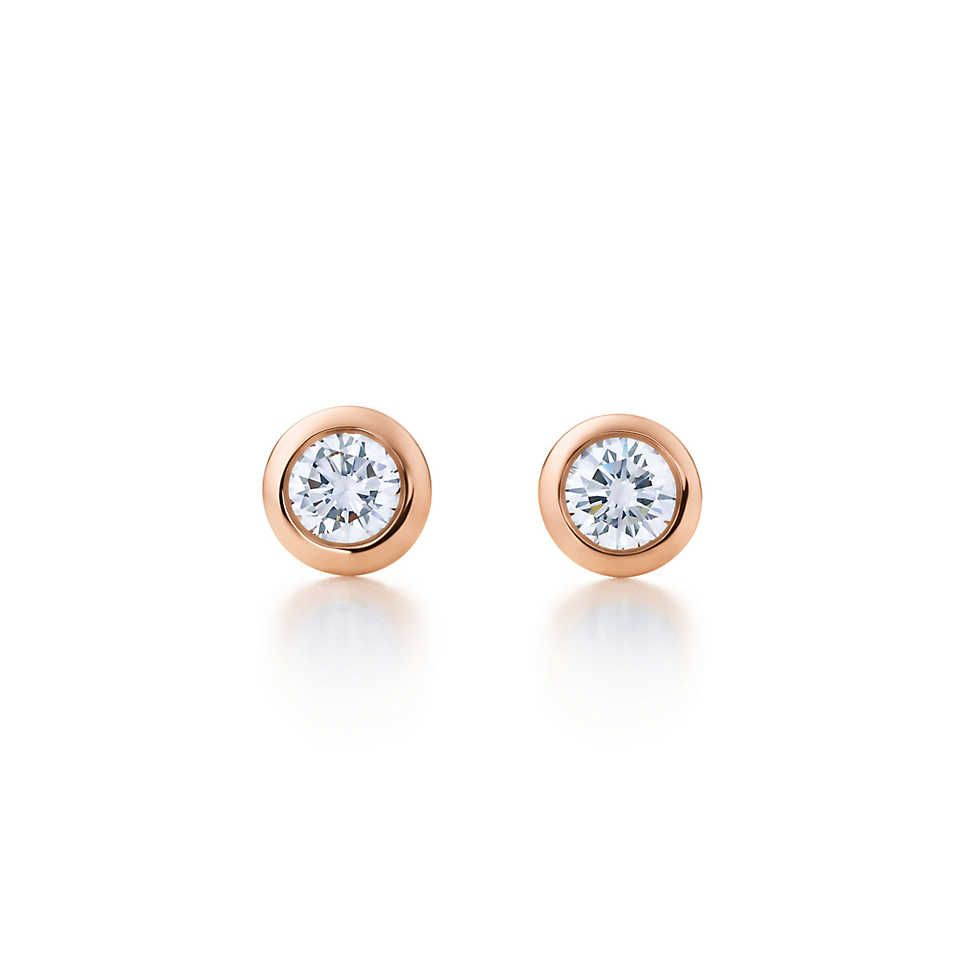 226feb27c Elsa Peretti® Diamonds by the Yard® earrings in 18k rose gold. | Tiffany &  Co.