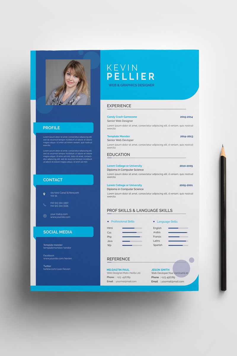 kevin pellier modern resume template