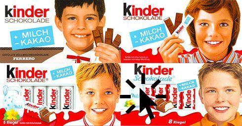 #Packaging Evolución kinder