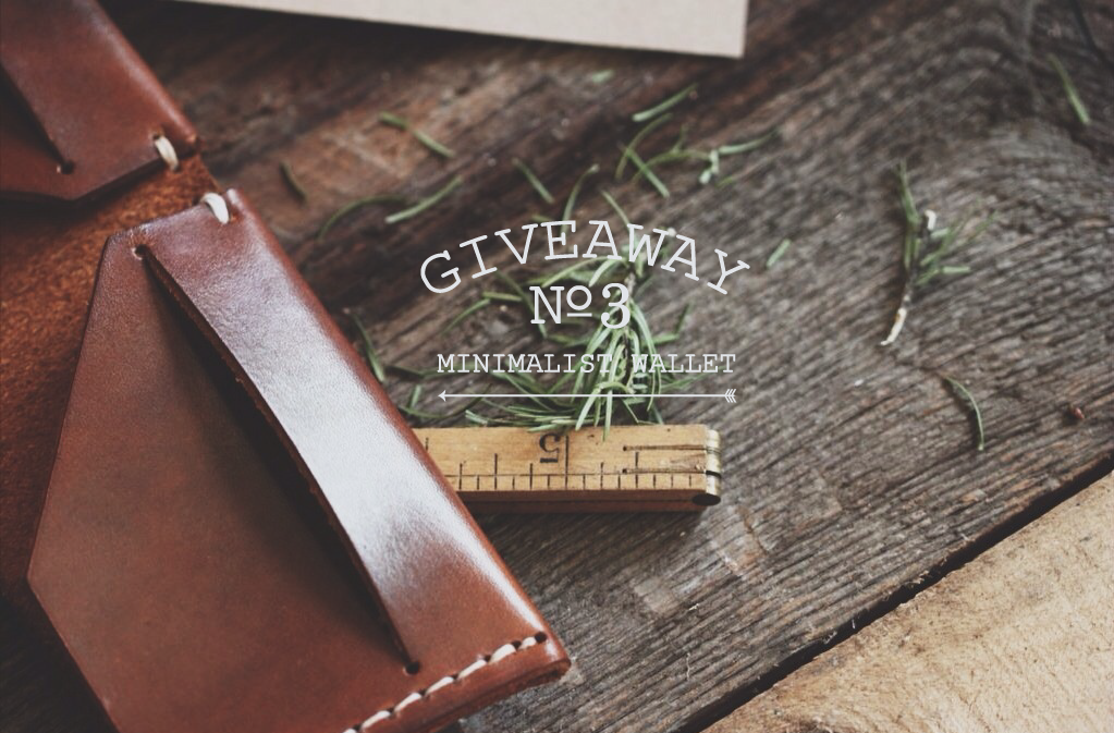 Giveaway! | L x S have done a few before and here is another! This time around the piece we are giving away is exceptional! We have recently teamed up with Stock & Barrel Co. to sell handcrafted leather goods! Some of which we have in the shop now! We are giving one lucky winner a beautifully oiled and dyed leather minimalist wallet with a simple bi-fold and saddle stitching! Handcrafted in America and something any lad or lady would love to have in their wardrobe!RULES FOR EN