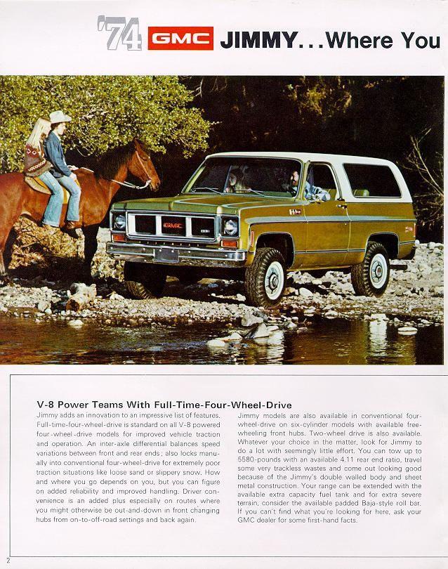 Car Brochures 1974 Chevrolet And Gmc Truck Brochures 1974 Gmc