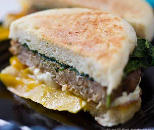 Breakfast Sandwich! Vegan Recipe - In 15 Minutes! - Healthy. Happy. Life.