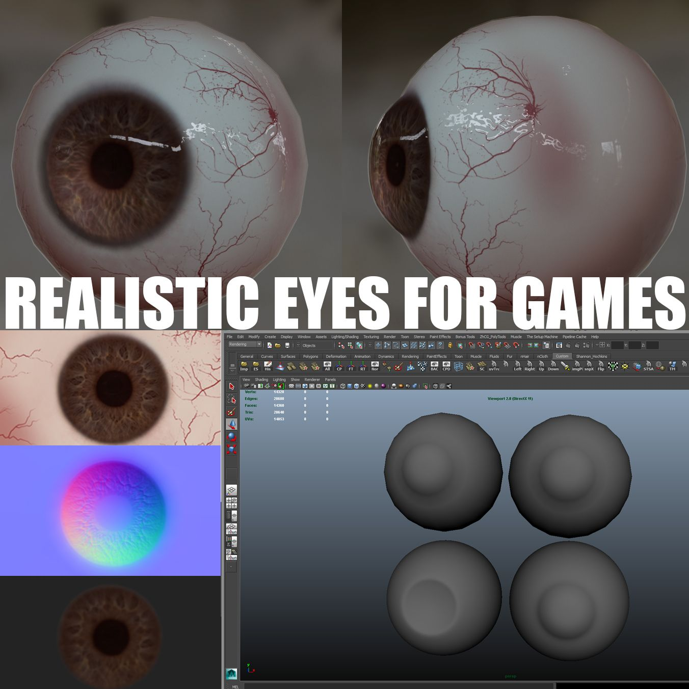 Creating Realistic Eyes for Games Realistic eye, Zbrush