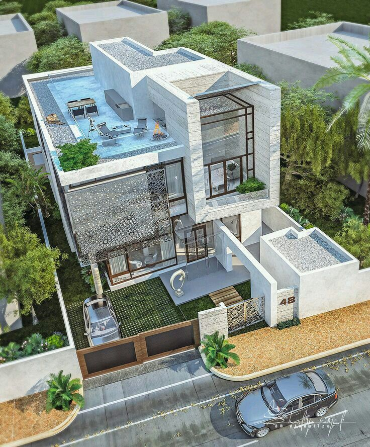 Ahane ev ev ve tasar m en 2019 casas modernas for Casa moderna tunisie