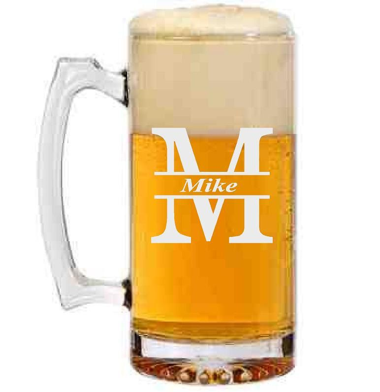 19e56e9393f Personalized Beer Mug with Initial and Name by CMpersonalgifts on Etsy