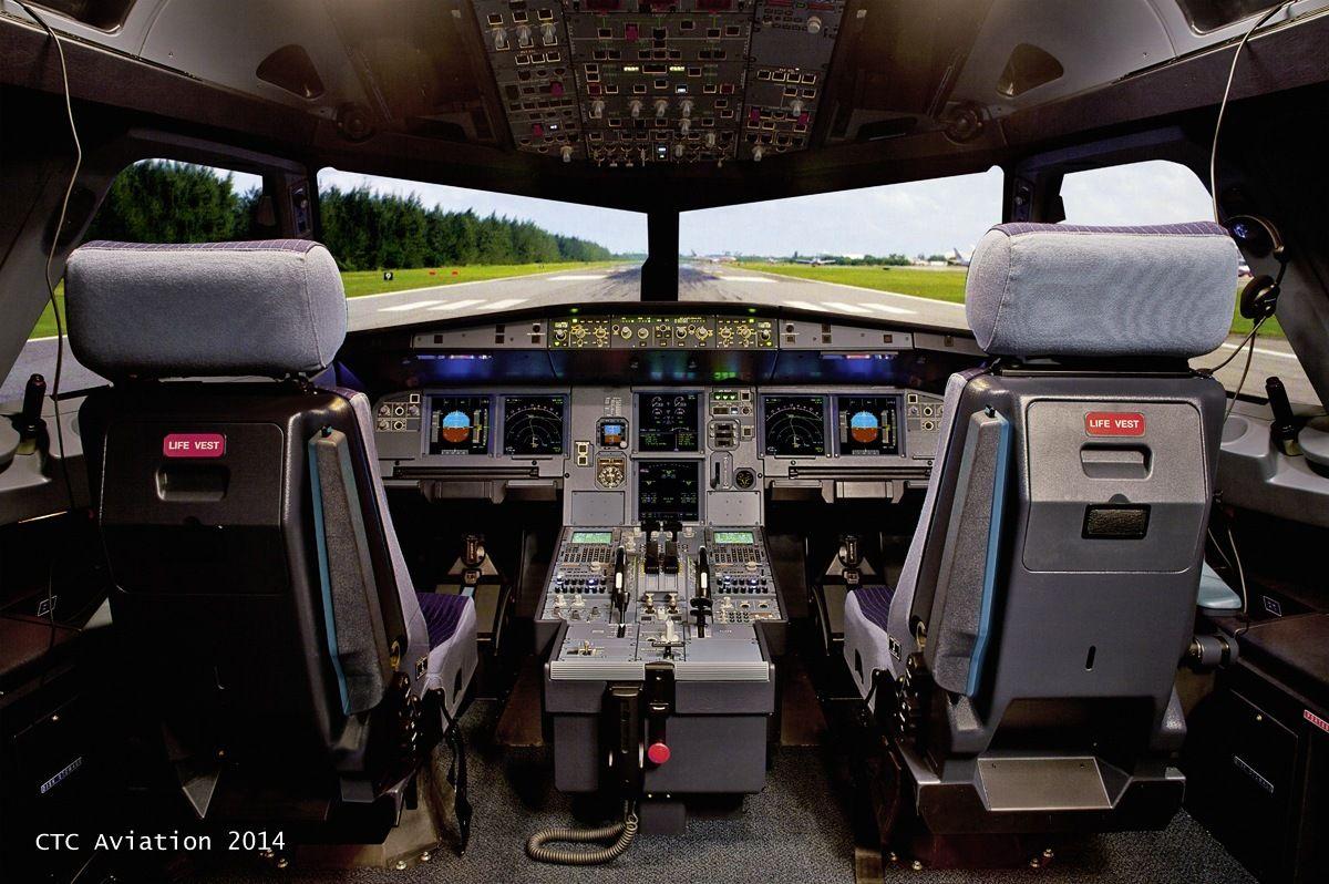 A320 full flight simulator Airbus full runway visuals   Our