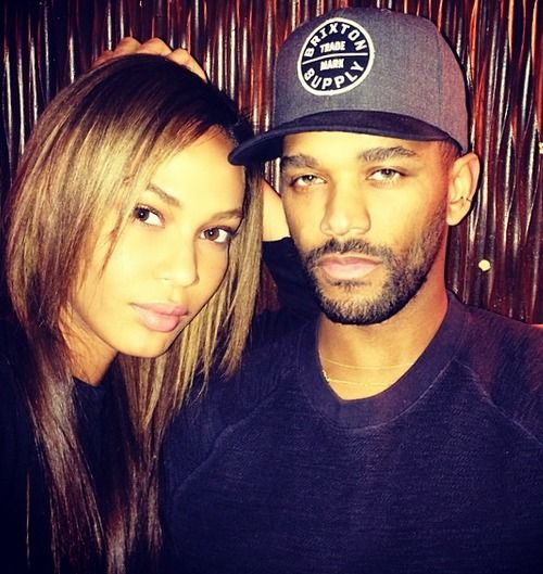 Boyfriend and girlfriend: Bernard Smith and Joan Smalls