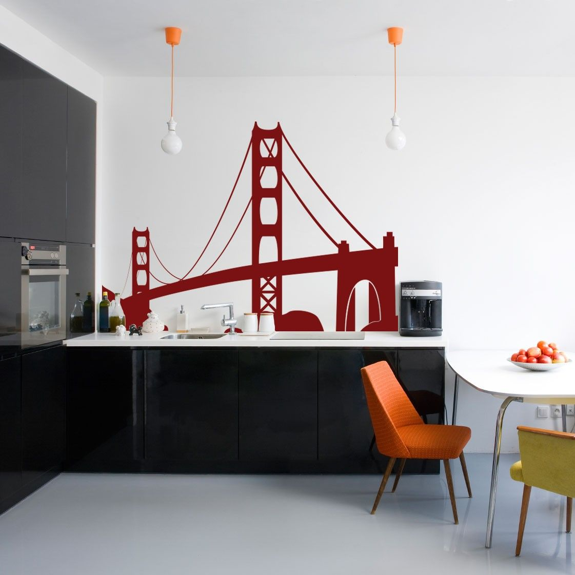 Travel Landmarks USA San Francisco Golden Gate Bridge - Vinyl Wall Art  Decal for Homes,