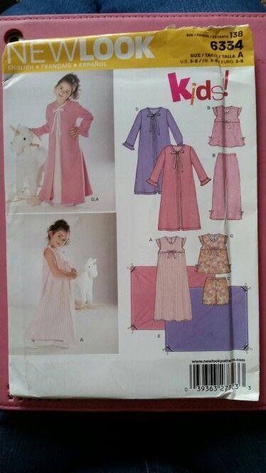 New Look Pattern 6334 Child s Sleepwear. Newlook 6334 dddce614b