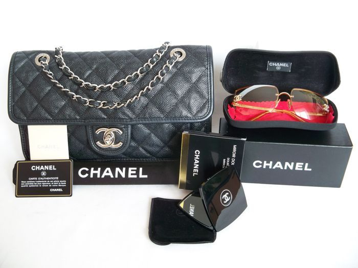 197a45af36094 Catawiki online auction house  Lot of 3  Chanel Timeless flap bag (Large