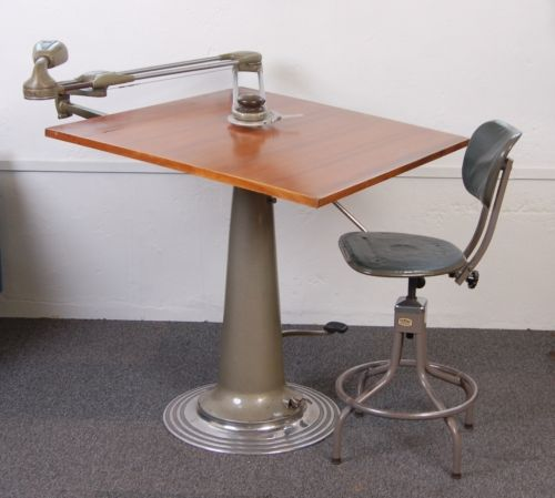 Industrial Nike Drafting Table Ca 1950: 1950s Nike Architects Drafting Table