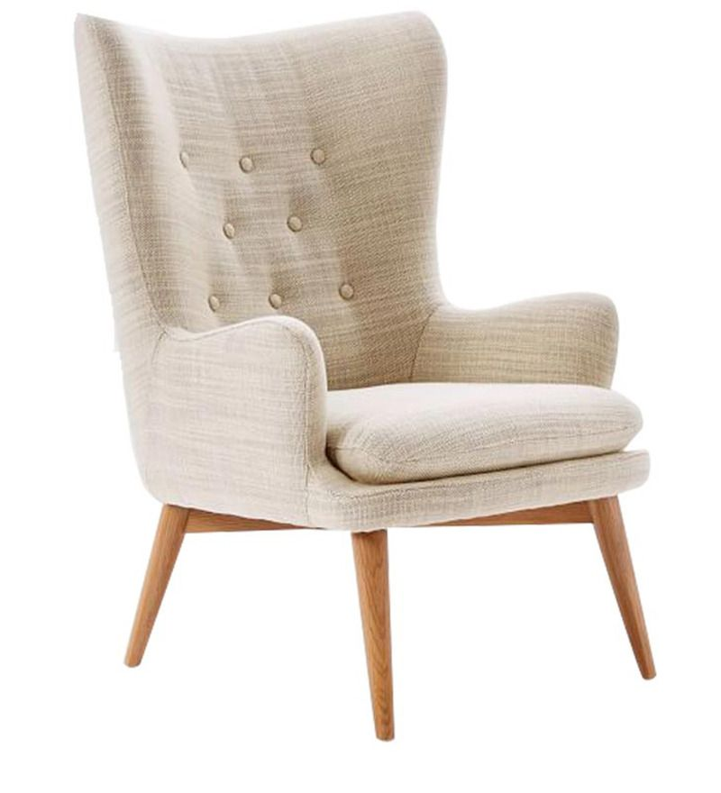 Buy Modern Wingback Chair With Curved Back And Slanted Legs Online: Shop  From Wide Range Of Chairs Online In India At Best Prices.