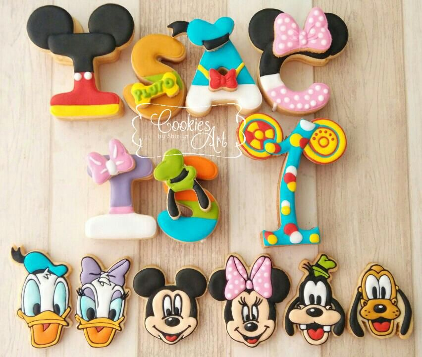 Mickey Mouse Clubhouse 	 handcut characters shape and the standing letters