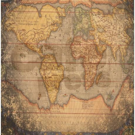 Old World Map Shower Curtain Shower Curtain on CafePress ...