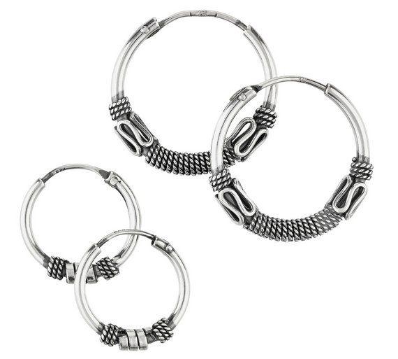 Revere Sterling Silver Bali Hoop Earrings Set Of 2 At Argos Co Uk Visit To Online For Las Jewellery